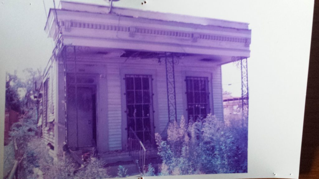 My Grandma Lillie Mae Ford's house in New Orleans post Katrina and a fire.